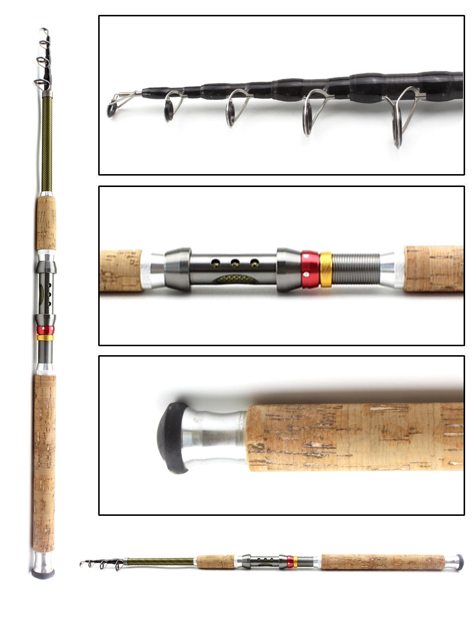 NEW ARRIVAL... 2.1m 2.4m 2.7m 3.0m 3.6m Telescopic Fishing Rod carbon wooden handle Spinning Rod Extra heavy carp fishing pole