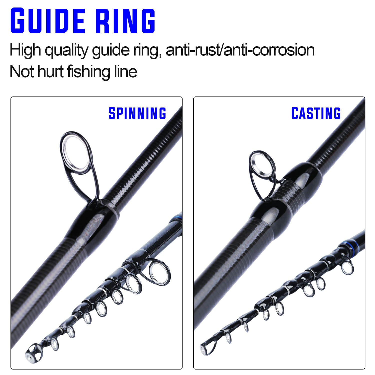 """AWESOME ACTION!"" Sougayilang 1.8M 2.1M Telescopic Fishing Rod Carbon Fiber Spinning /Casting"