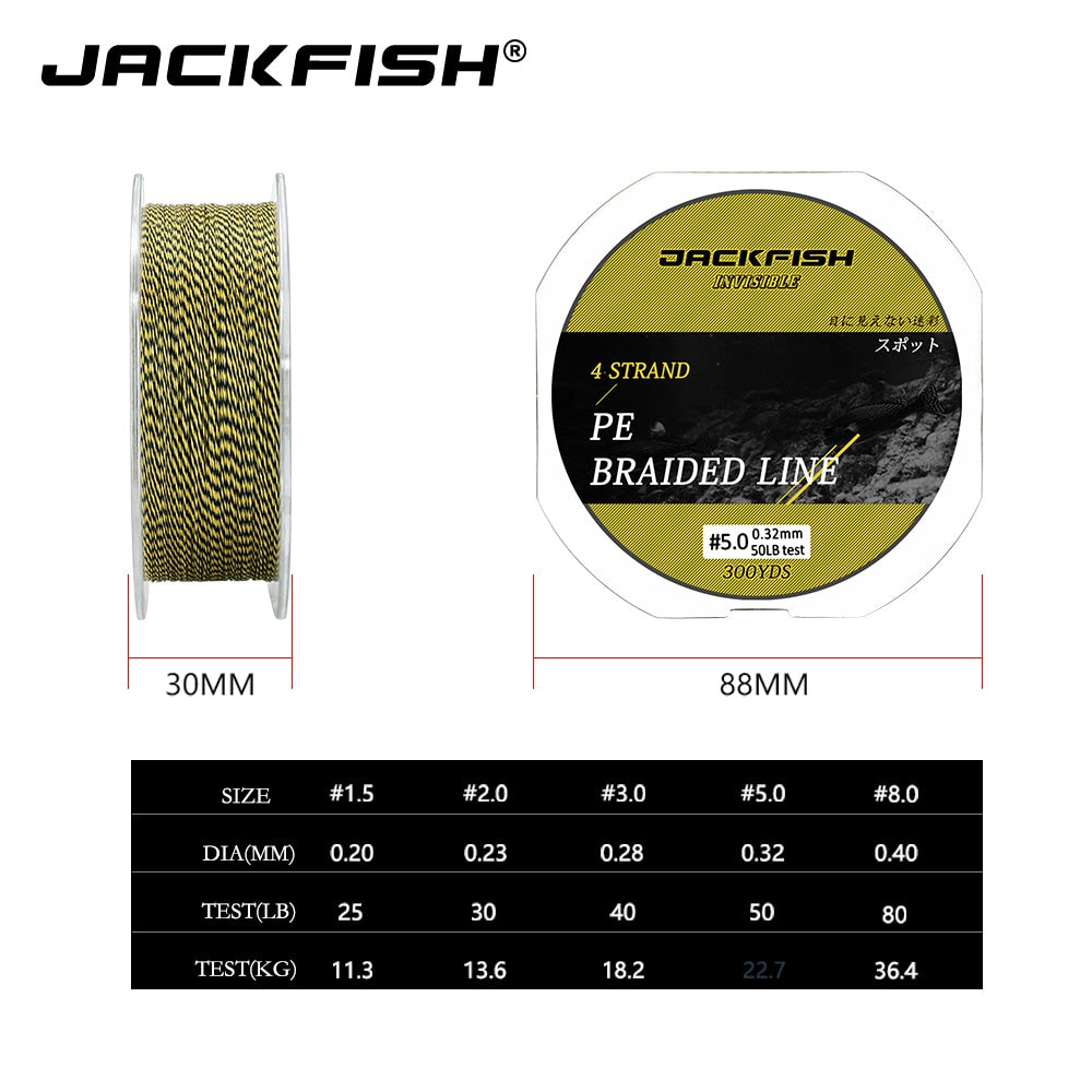 JUST ARRIVED !! 🐬 300yds 4 Strand PE Braided Fishing Line 25 30 40 50 80LB Colorful 🐬