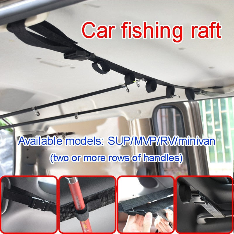 BRAND NEW 2019  🐬 Fishing Rod Car Bracket With Support Belt With Bracket System 🐬