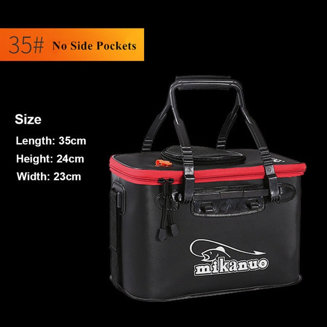 🐬BRAND NEW-UNDER $20🐬  WALK FISH Portable EVA Collapsible Fishing Bag/Bucket Live Fish Box Water Container Pan Basin Tackle Storage Bag