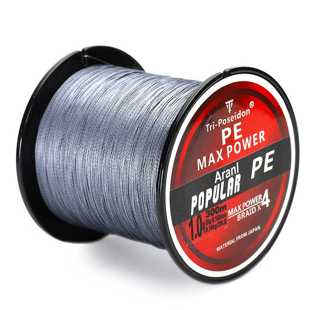 🐟 SeaKnight Brand TriPoseidon Series 300M 330Yards PE Braided Fishing Line 4 stands 8LB 10LB 20LB 60LB Multifilament Fishing Line🐟