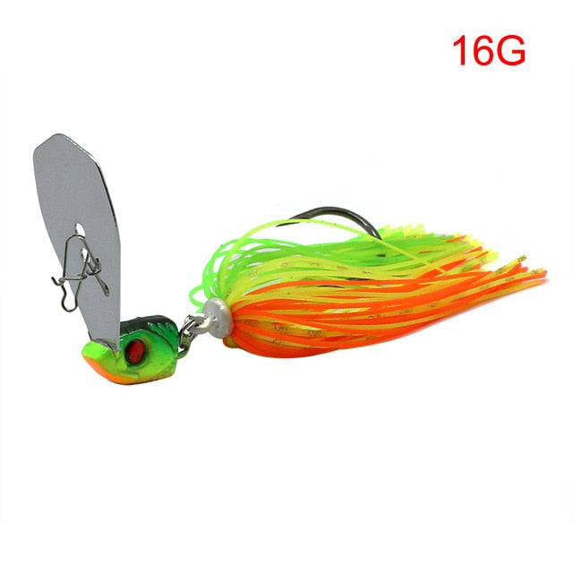 2020 New Arrival 16G chatter bait spinner lure Buzzbait wobbler artificial rubber skirt for bass/ pike/ walleye