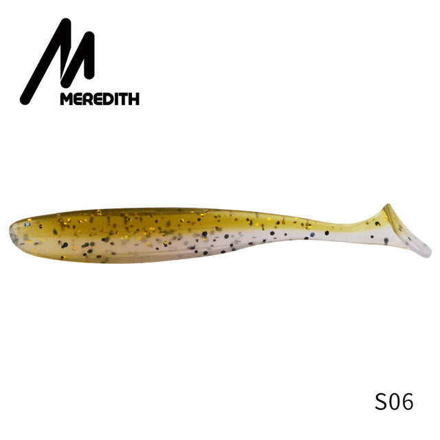 FREE SHIPPING!! Meredith Easy Shiner Fishing Lures 50mm 75mm 100mm 130mm Wobblers Carp Fishing Soft Lures Silicone Artificial Double Color