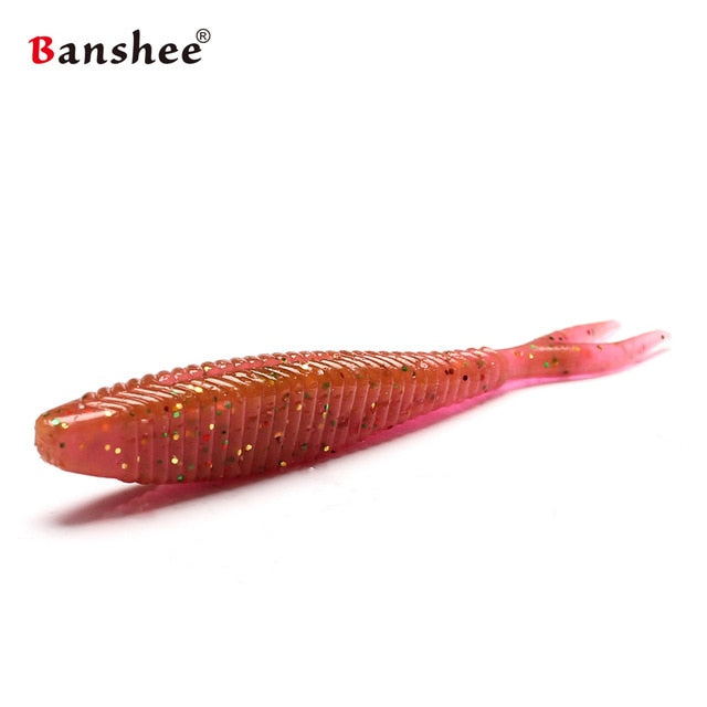 """FREE! FREE + S&H!! 15pcs/package soft bait for Fishing SHAD60 shad bass wobblers 60mm 1.5g artificial silicon rubber worm shrimp"