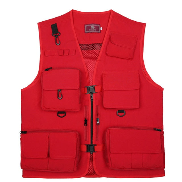 🐬AWESOME DEAL🐬 ULTRALIGHT MEN FISHING VEST QUICK DRYING MESH WITH MULTI POCKETS
