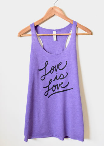 Love is Love, Pride Tank Top- Women's Racerback Tank