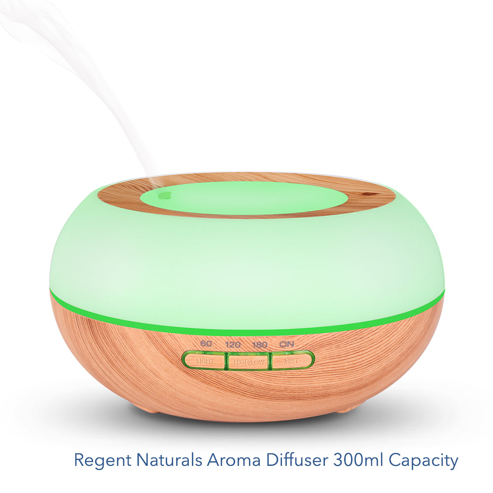 Aroma Diffuser 300ml. Perfect for aromatherapy with 7 Color LED lights.