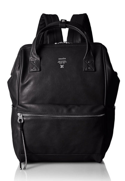 Anello Authentic PU Leather Black Laptop Backpack - Lulugift.com :Affordable Designer Handbags malaysia bag murah