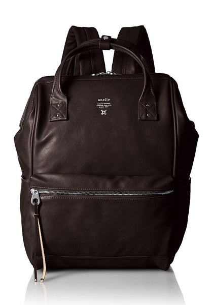 Anello Authentic Japan Imported PU Leather Dark Brown Laptop Backpack - Lulugift.com :Affordable Designer Handbags malaysia bag murah