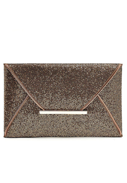 Celebrity European Style Envelope Clutch Rose Gold - Lulugift.com :Affordable Designer Handbags malaysia bag murah