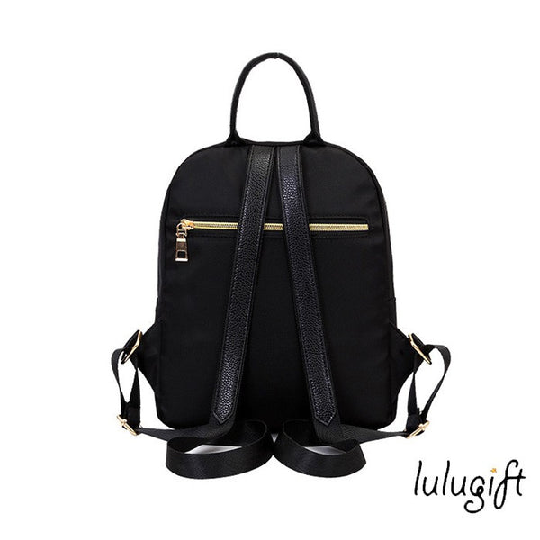 Korean Black Nylon Shoulder Bag