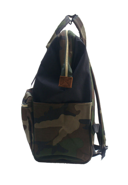 Authentic Anello Japan Imported Canvas Unisex Green Camo Backpack 【anello®】