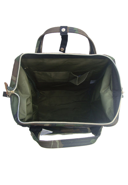 Authentic Anello Japan Imported Canvas Unisex Green Camo Backpack - Lulugift.com :Affordable Designer Handbags malaysia bag murah