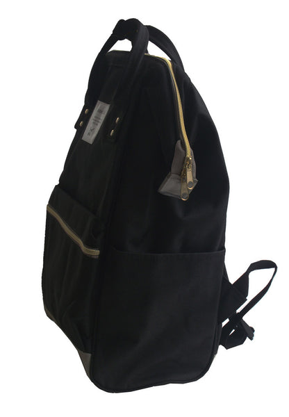 Authentic Anello  Backpack Japan Imported Canvas Unisex Multicolour Black  【anello®】