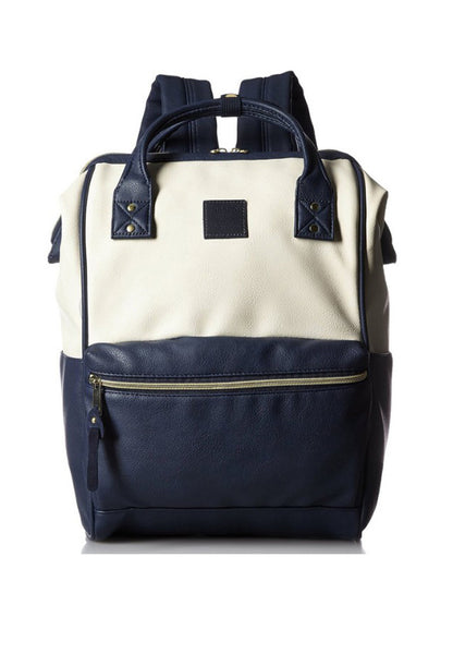 Authentic Anello Japan Imported PU Leather Unisex Backpack White Blue - Lulugift.com :Affordable Designer Handbags malaysia bag murah