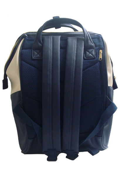 Authentic Anello Japan Imported PU Leather Unisex Backpack White Blue 【anello®】