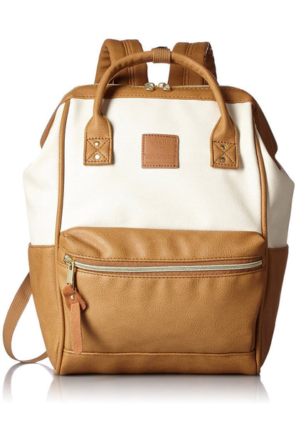 Authentic Anello Japan Imported PU Leather Unisex Backpack 【anello®】
