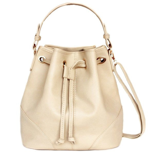 Lulugift TSAR Sylish Leather Sling Bag Beige