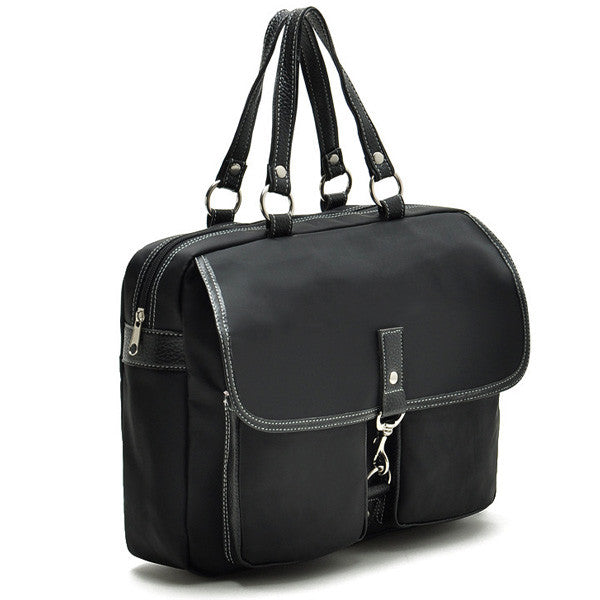 USA Imported Black Waterproof Canvas Shoulder Bag