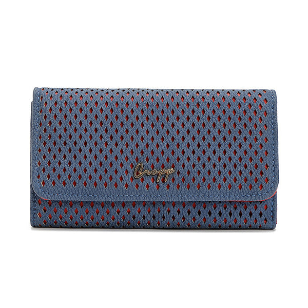 COP Hollow Pattern PU Leather Wallet