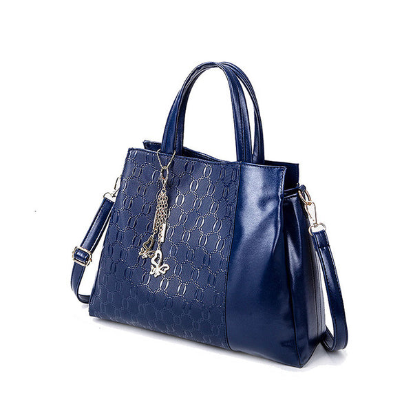 US Style 2 in 1 Ladies Multifuctioned Handbag With Wallet Dark Blue