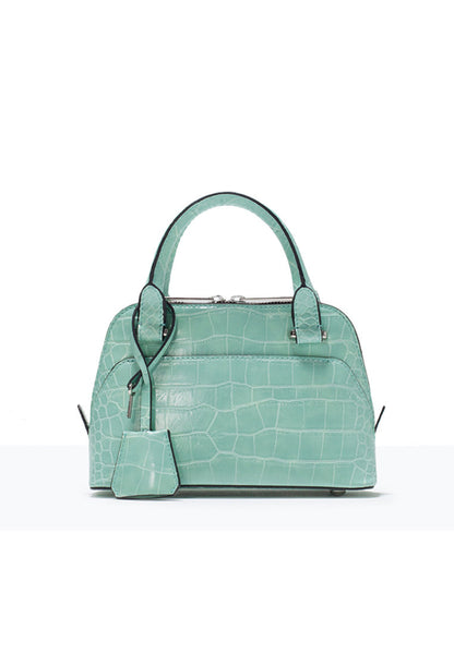 Crocodile Pattern Mini Urban Leisure Shoulder Bag Green