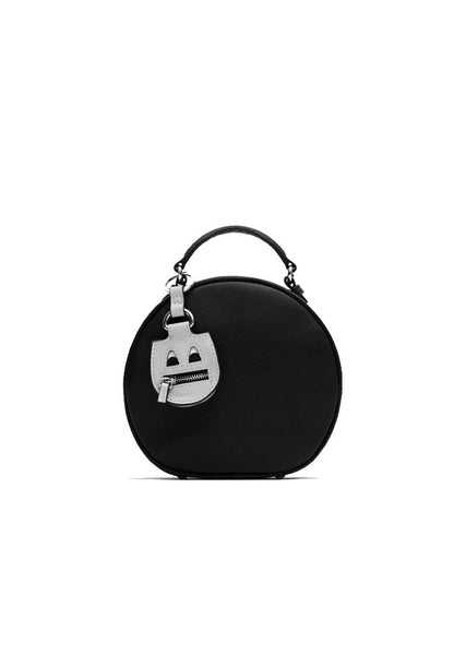 Special Decorative Round Postman Shoulder Bag Black