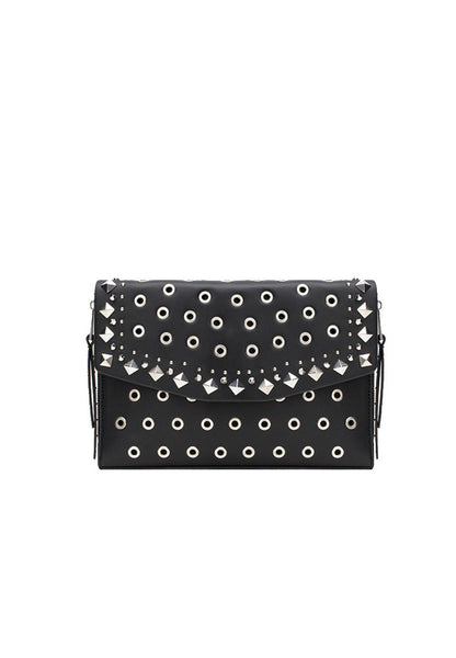 Special Rivets Envelope Sling Bag Black