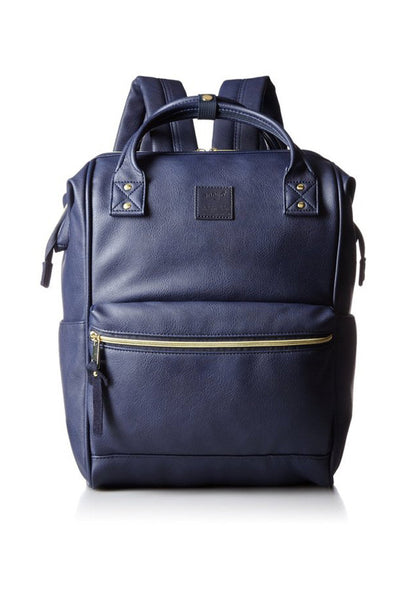 Authentic Anello Japan Imported PU Leather  Unisex Backpack Dark Blue - Lulugift.com :Affordable Designer Handbags malaysia bag murah