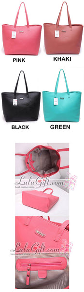 Big Capacity Cross Pattern Artificial Leather Handbag Green - Lulugift.com :Affordable Designer Handbags malaysia bag murah