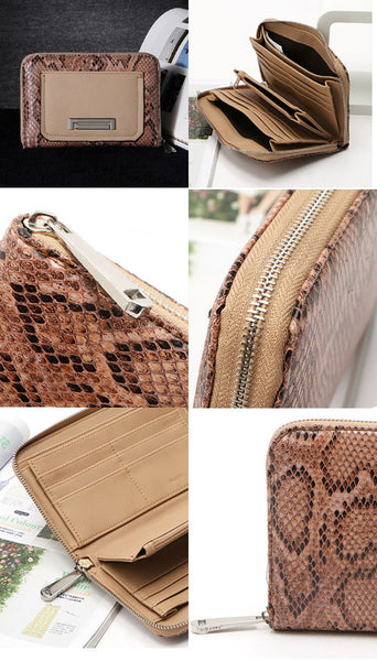 Old Vintage Snake Skin PU Leather Wallet
