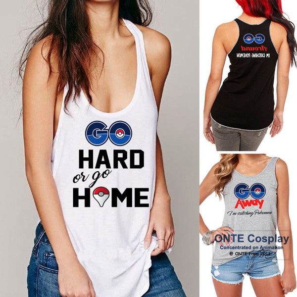 2016 Games Pokemon Go Cosplay Costumes T-Shirts Women Vest Pocket Monster Tops Tees for Games - Lulugift.com :Affordable Designer Handbags malaysia bag murah
