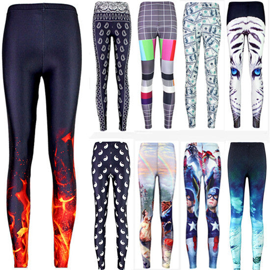 2016 hot sale new arrival Novelty 3D printed fashion Women leggings space galaxy leggins tie dye fitness pant free shipping - Lulugift.com :Affordable Designer Handbags malaysia bag murah