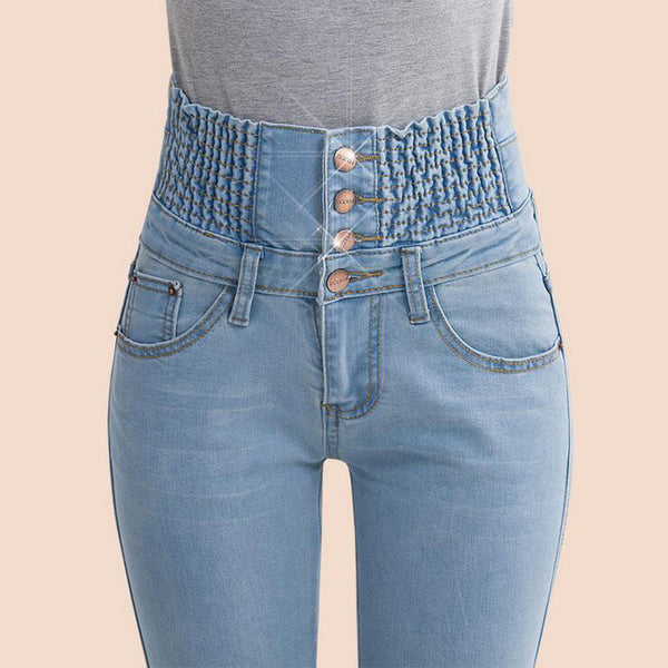 2016 Jeans Womens High Waist Elastic Skinny Denim Long Pencil Pants Plus Size 40 Woman Jeans Camisa Feminina Lady Fat Trousers - Lulugift.com :Affordable Designer Handbags malaysia bag murah