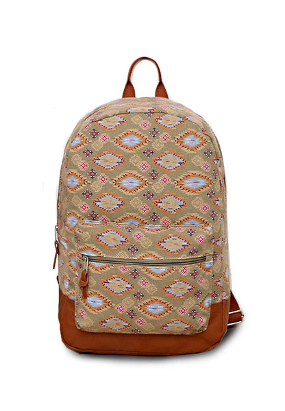 Nobo Hippie Pattern Canvas Backpack