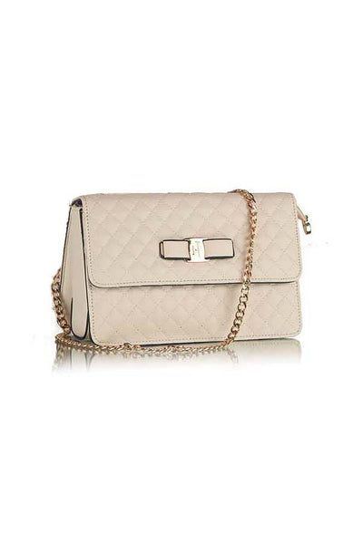 Classic Quilted Fashion Silver Flap bag White - Lulugift.com :Affordable Designer Handbags malaysia bag murah