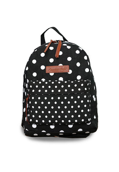 US Imported Backpack Canvas Polka Pattern