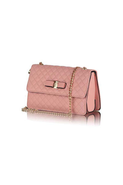 Classic Quilted Fashion Silver Flap bag Pink - Lulugift.com :Affordable Designer Handbags malaysia bag murah
