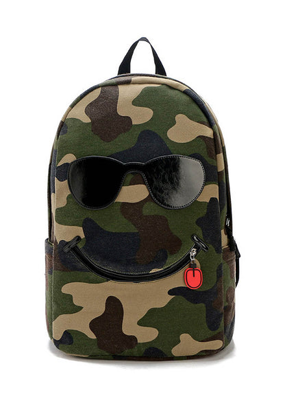 Military Pattern Smile Backpack Design