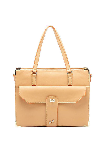 AB 14 Inch Lady Laptop Hand Carry Shoulder Bag 1 Brown - Lulugift.com :Affordable Designer Handbags malaysia bag murah