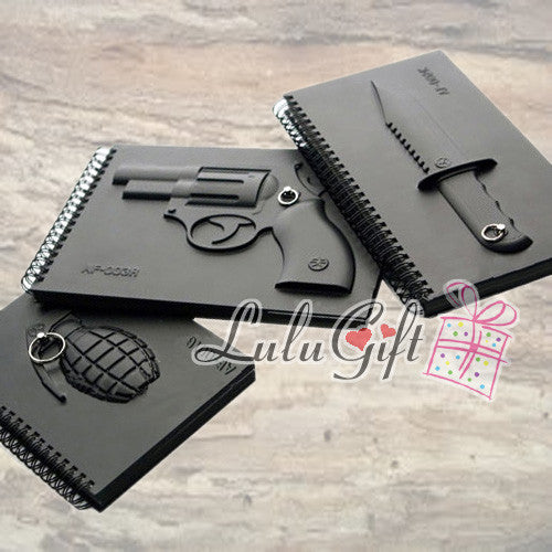 Creative Armed Notebook Cool Design Revolver Knife Gernade Set - Lulugift.com :Affordable Designer Handbags malaysia bag murah