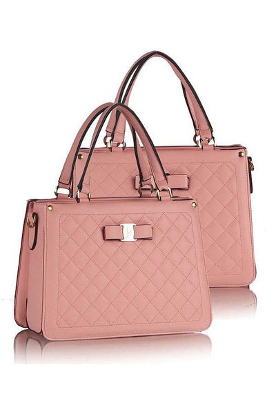 Classic Quilted Fashion Sling Lady Bag Pink - Lulugift.com :Affordable Designer Handbags malaysia bag murah