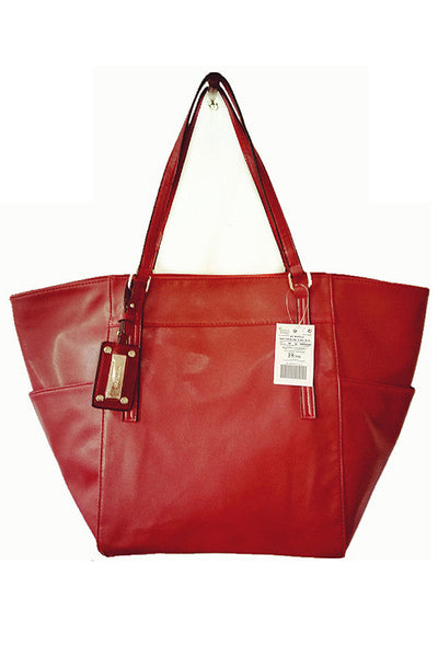 Big Lady TSAR Tote Artificial Leather Shopping Bag Red - Lulugift.com :Affordable Designer Handbags malaysia bag murah