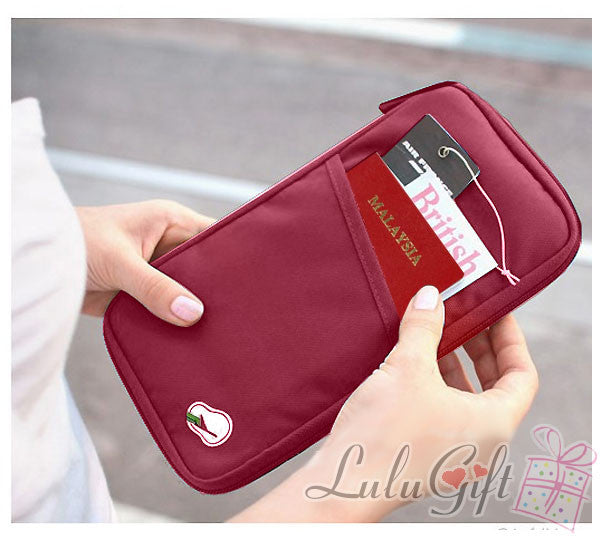 Mutliple Function Travel Document Wallet Red