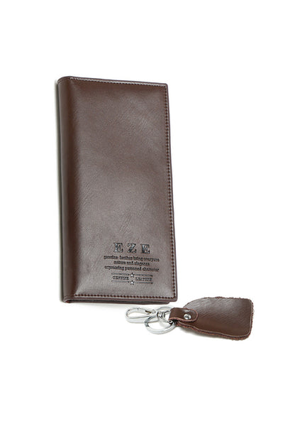 Full Leather Card Holder Wallet Keychain Gift Set - Lulugift.com :Affordable Designer Handbags malaysia bag murah