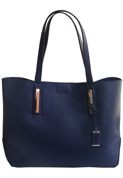 Lulumono Cherry Blossom  2 in 1 Set Tote Sling Bag Blue