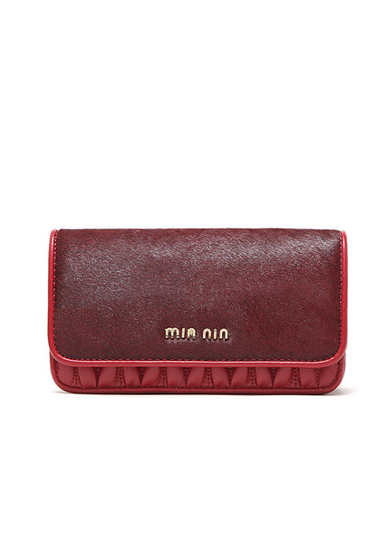 Uptown Girl Gold Chain Clutch Sling Bag Red