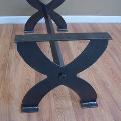 X style steel coffee table base