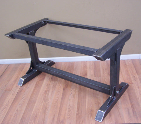 Custom table base and 2 bench bases powdercoated BK08 black